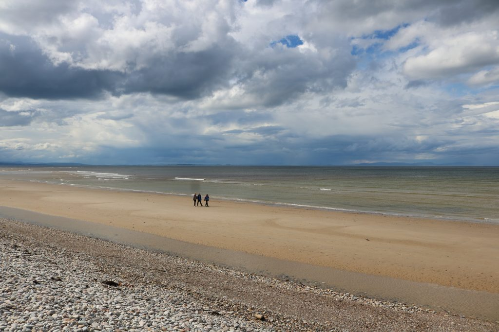 People Walking on Findhorn Beach