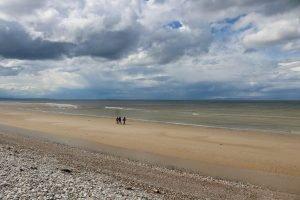 People Walking on Findhorn Beach