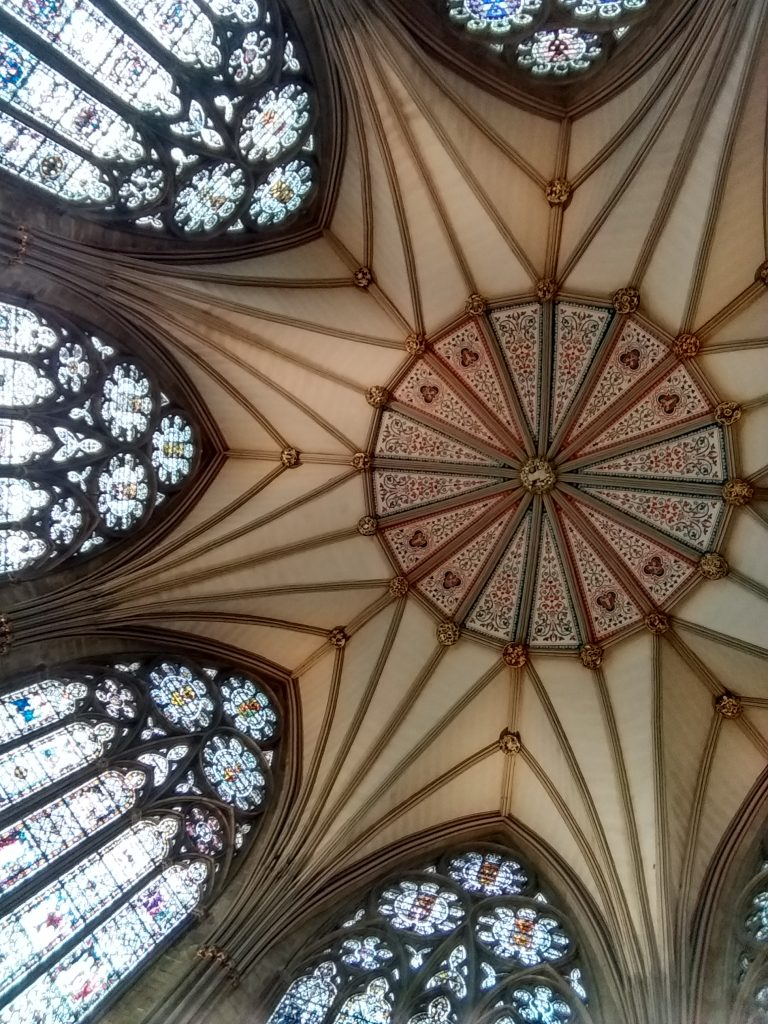 York Cathedral Chapter house ceiling