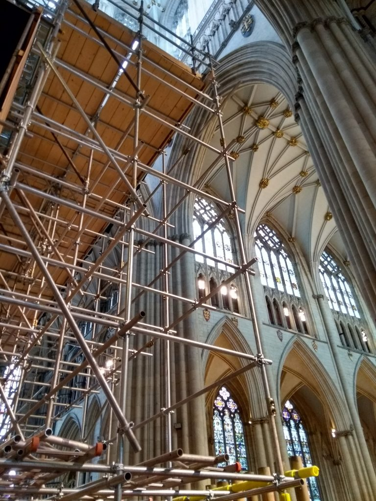York Cathedral organ scaffolding