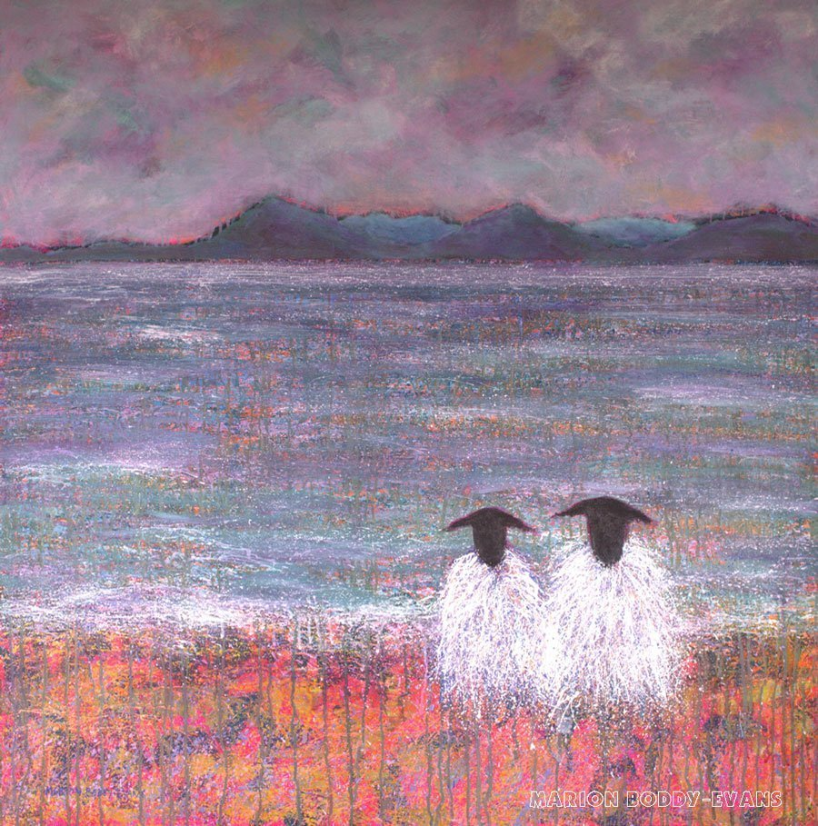 Sheep painting with Elgol