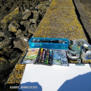 Watercolour sketching in the sunshine