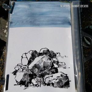 Watercolour of rocks