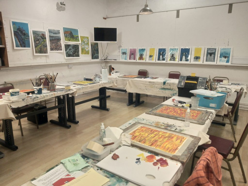 Higham Hall art studio