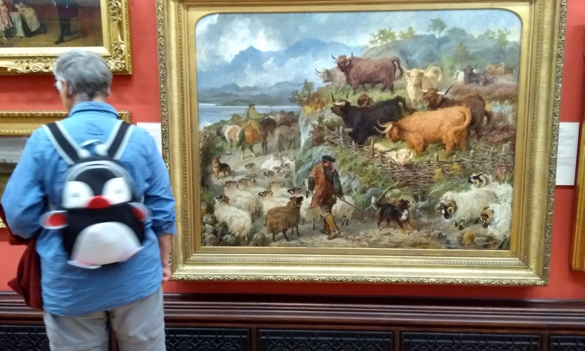 Highland cows painting by Gourlay Steel