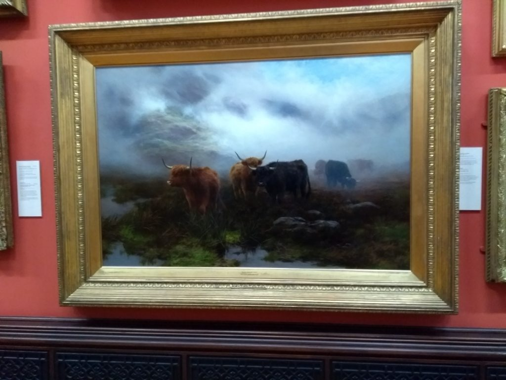 Highland cow painting by Peter Hraham