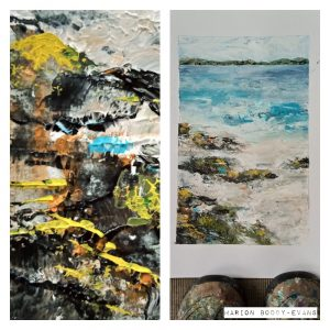 Iona Beach painting by Marion Boddy-Evans