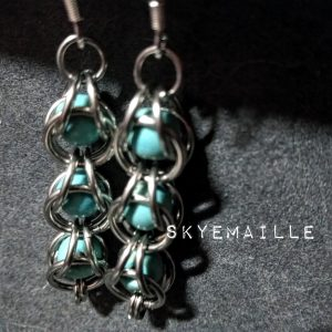 Captured bead earrings by Skyemaille