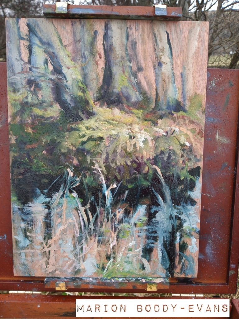 Uig Woodland Puddle painting