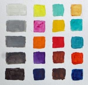 Tone vs colour chart