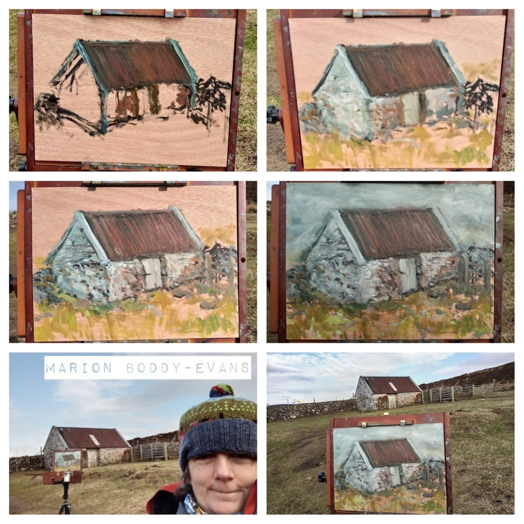 Croft House step by step painting