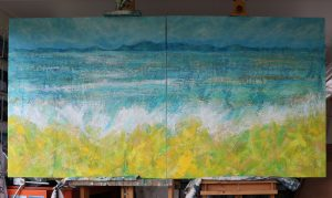 Here Comes the Sun Minch seascape painting