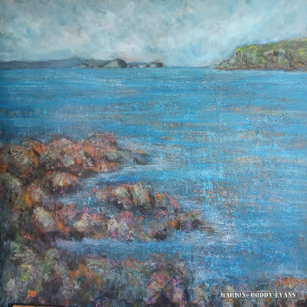 Go North seascape painting by Marion Boddy-Evans
