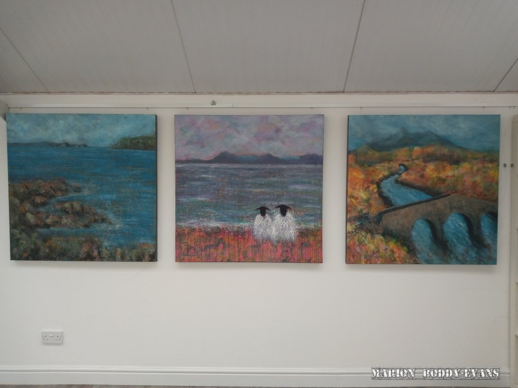 Paintings at Skyeworks Gallery by Marion Boddy-Evans