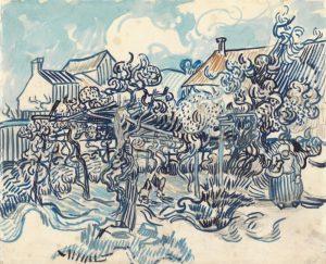 Van Gogh Old Vineyard with Peasant Woman painting