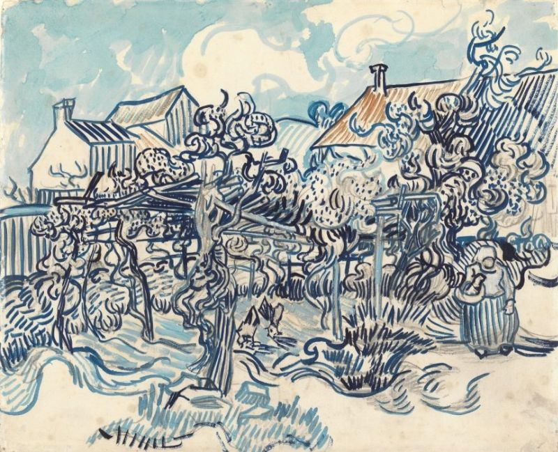 Van Gogh Old Vineyard with Peasant Woman painting